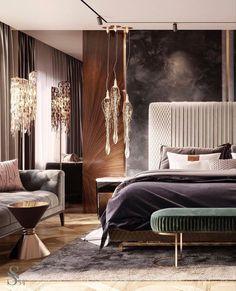 Master Bedroom Interior, Luxury Bedroom Design, Luxury Rooms, Luxury Interior Design, Luxurious Bedrooms, Modern Bedroom, Bedroom Decor, Cozy Bedroom, Bedroom Furniture