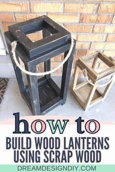 Make these Simple DIY Wood Lanterns out of minimal pieces of wood or scrap wood. They make fabulous decorations in your house, by your front door or your back patio. #diy #woodworking #scrapwood Diy Crafts For Teen Girls, Diy Crafts For Adults, Diy Crafts To Do, Diy Projects Using Wood, Diy House Projects, Diy Craft Projects, Do It Yourself Decorating, Decorating Tips, Making Raised Garden Beds