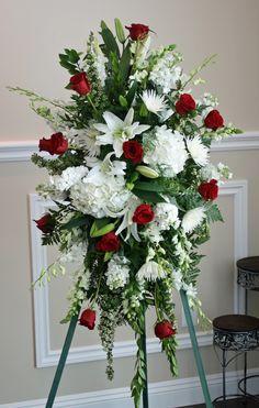 Memorable Flower Arrangement for Funeral - Flower - flower arrangements for a funeral Casket Flowers, Grave Flowers, Cemetery Flowers, Church Flowers, Funeral Flowers, Wedding Flowers, Send Flowers, Flowers Garden, Fall Flowers