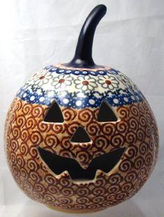 "7"" Polish Pottery Stoneware Pumpkin Halloween Jack-o'-lantern Unikat EOS Early October Orange by Manufaktura, http://www.amazon.com/dp/B005DIB2PQ/ref=cm_sw_r_pi_dp_tgeNpb0JEKEGS"