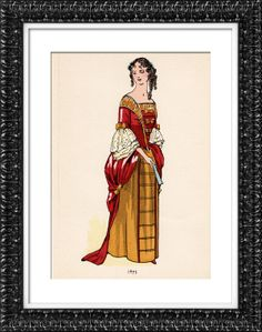 Fashion Plate - French Mode - 17th Century - 1675