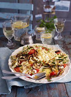 Pasta mit gegrilltem Gemüse Alla Caprese - Rezepte