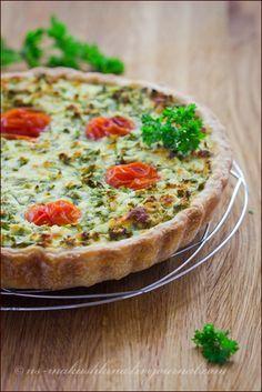 Тарт с брынзой и зеленью