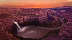 峡谷の滝 カスケード 自然 高解像度で壁紙