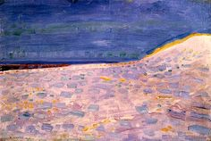 Beach with One Pier at Domburg (Dune) 1909 Piet Mondrian