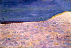 Beach with One Pier at Domburg (Dune) 1909 Piet Mondrian