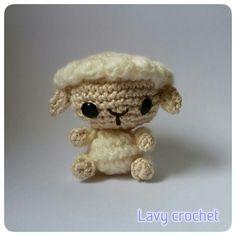 Amigurumi sheep plush crochet toy kawaii