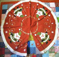 60s Felt Tree Skirt by lishyloo on Etsy, $40.00