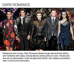 Top mens womens trends and fabrics, F/W 2013-14, goth