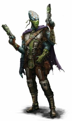 Kasatha Outlaw Operative - Starfinder RPG (Core Rulebook Art)