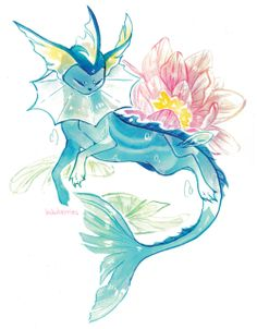 Find images and videos about pokemon and vaporeon on We Heart It - the app to get lost in what you love. Pokemon Tattoo, Pokemon Fan Art, Gif Pokemon, Pokemon Eeveelutions, Eevee Evolutions, Pokemon Funny, Pokemon Memes, Pokemon Fusion, Fantasy Creatures