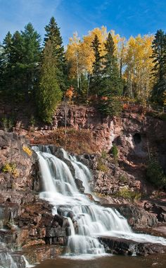 Gooseberry Falls State Park | Travel | Vacation Ideas | Road Trip | Places to Visit | Two Harbors | MN | Government Building | State Park | Climbing Spot | Monument | Hiking Area | Campground | Natural Feature