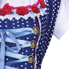 aa87f37c9e4e4 Shirts von LUNA TEX mit vielen Details  Dirndl-Shirt detailreiches Motiv  mit einer Schleife