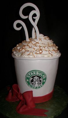 starbucks cake by kickass kakes, via Flickr
