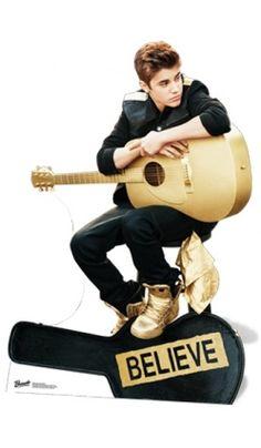 Figurine géante Justin Bieber avec guitare