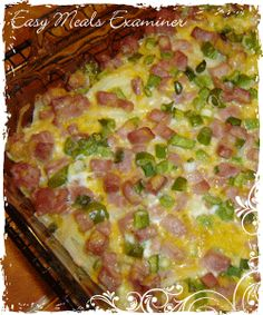 Delicious and nutritious Breakfast casserole recipe with ham