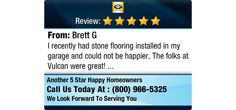 I recently had stone flooring installed in my garage and could not be happier. The folks...