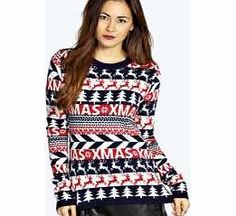9c39baa94e2a boohoo Christmas Reindeers Jumper - navy azz16804 Go back to nature with  your knits this season