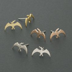 Pterodactyl Stud Earrings / dinosaur earrings, dino studs, Pterosaur studs / E148