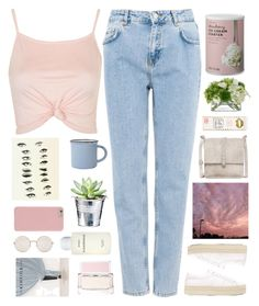 """""""Untitled #2504"""" by tacoxcat ❤ liked on Polyvore featuring Pull&Bear, Topshop, Yves Saint Laurent, Givenchy, Accessorize, canvas, CO, Byredo, Cynthia Vincent and Illesteva"""