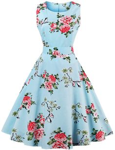 Random Florals Bow Tie Back Circle Dress - Instagrammable Summer Outfit Ideas - Sponsored Pin
