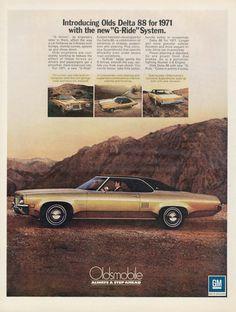 1971 Oldsmobile Delta 88 Car Photo Ad Olds by AdVintageCom on Etsy