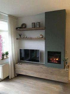 45 Fireplace W Tv At Side Ideas Fireplace Fireplace Design Home