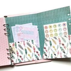 A DIY pocket folder insert in my planner that I use to store stickers that I use for planning regularly, functional and looks really cute! Planner Dividers, Planner Organization, Organizer Planner, Life Planner, Happy Planner, Planner Ideas, Printable Planner, Planner Stickers, Printables