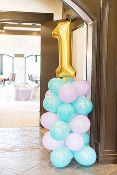 Party balloons from Mermaids & Pirates Birthday Party at Kara's Party Ideas. See the whole shindig at karaspartyideas.com!