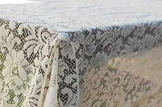 Capri Vintage Lace Tablecloth, vintage linens for rent Dish Wish California & Hawaii Event Rentals, vintage linens for wedding, vintage bridal shower, vintage lace, lace wedding