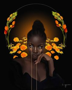 By Britney Symone Black Love Art, Black Girl Art, Art Girl, Black Girls, African American Art, African Art, Arte Black, Black Art Pictures, Natural Hair Art