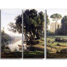 Design Art 'Camille Corot - Italian Landscape' Landscape Arwork