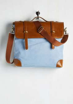 Rustic Rendezvous Bag in Sky. For a celebration amid the conifers and aneath the stars, this clear-sky blue bag is a go! #blue #modcloth