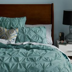 Organic Cotton Pintuck Duvet Cover + Shams | west elm