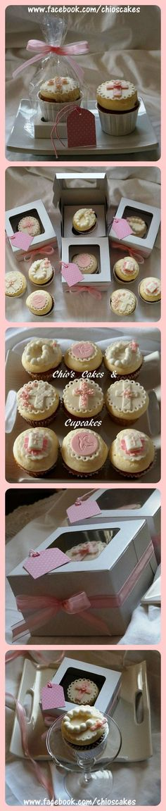 FIRST COMMUNION CUPCAKE FAVORS Follow me: www.facebook.com/chioscakes