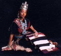 "Miss Navajo Nation 1997-1998, Radmilla Cody ""Millie"" I am of the Red Bottom People clan. Born for the African Americans. My maternal grandfathers clan is the Mexican clan. My paternal is the African Americans. I am 46th Miss Navajo Nation. I am 21 years old and I grew up in Grand Falls which is about 15 miles East of Leupp. I was a 1993 graduate of Coconino High School in Flagstaff, Arizona."