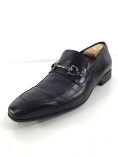 0d453dda2ef 1231 SALVATORE FERRAGAMO BLACK LEATHER BIT LOAFERS MEN SIZE 9 2E  fashion   clothing