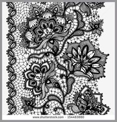 Abstract Lace Ribbon Vertical Seamless Pattern Template frame ...