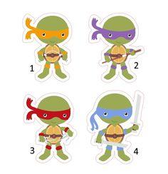 Aplique Tartarugas Ninja 5 cm | Tati Apliques | Elo7