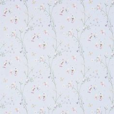 Curtains in Fairyland Fabric - Powder Blue (223921) - Sanderson Abracazoo Fabrics & Wallpapers Collection
