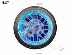 Discover Cool Stuffs And Wonderful Gift Outdoor Wall Clocks, Wall Watch, Blue Led Lights, Creative Walls, Desk Clock, Unusual Gifts, Shabby Chic Decor, Bar, Watches