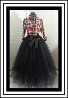 Custom Made Adult black Tutu Style Skirt Floor Length for bridesmaid dress, prom, party, portraits-4 inches satin sash is included-Any color