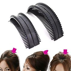 cool 2 Size New Hair Comb Bumpits Tie Clip Cele-up DIY Hair Beauty Tool Hair Braider Styling Braid Tool Holder Clip DIY French Grace AOSTEK(TM)