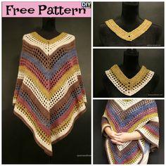 Easiest Crochet Lightweight Poncho - Free Pattern  #freecrochetpatterns #poncho #freepattern #crocheting