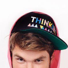 Get your Thinking Caps on!!   #thinkingcap #handmade #embroidered #festivals #festivalstyle #summer #snapback #summerstyle #beachwear #beachstyle #baseballcap