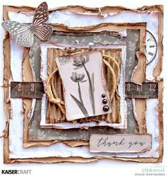 I'm here today to share some cards that I have created using this month's Whisper Collection from Kaisercraft. Paper Bag Scrapbook, Scrapbook Albums, Scrapbook Supplies, How To Make A Paper Bag, Card Creator, Square Card, Some Cards, Paper Cards, Altered Art