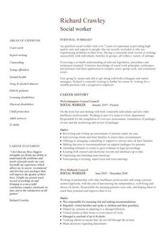 social worker resume template this cv template gives you an idea of how to lay - Social Work Sample Resume