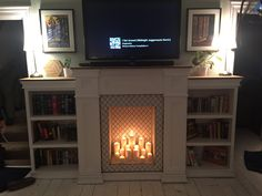 Faux Fireplace with Bookcases and hidden storage - Album on Imgur