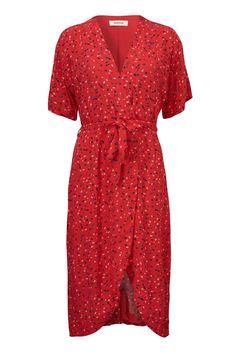 da4503cd8d02 Modström - Kjole - Jemma Print Dress - Camara Apple Red