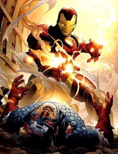 Captain America vs. Iron Man (Civil War)